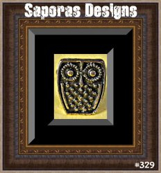 Antique Owl Design Ring Size 6.5 & Adjustable To Fit Most Fingers