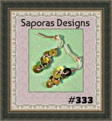 Handmade Green Confetti Dangle Earrings With Silver Tone Finish