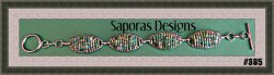 Handmade Green Beaded Bracelet With Silver Tone Finish Native Ethnic Tribal
