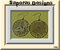 Gold & Silver Tone Sexy Women Lady Round Circle Dangle Earrings
