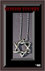 18KRP 6 Point Star Design Necklace Unisex Biker Gothic Punk Rock Style