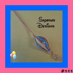 Colorful Hot Air Balloon Design Necklace With Gold Tone Finish