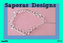 Silver Tone Chain Link Design Anklet