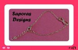 Gold Tone Infinity Design Bracelet For Her
