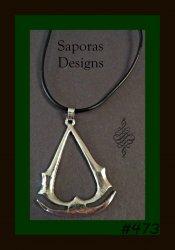 Assassins Creed Necklace Game Altair Ezio Connor Desmond Design