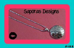 18KRP Love You Necklace With Hearts