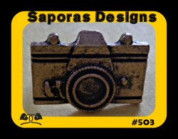 Antique Camera Design Ring Size 6.5 & Adjustable To Fit Most Fingers
