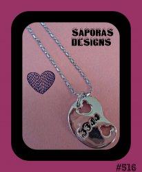 18KRP Mickey Mouse Disney Design Art Necklace