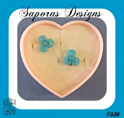 Blue Stud Flower Design Earrings