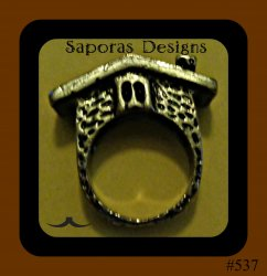 Antique House Design Ring Size 7