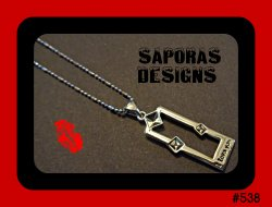 18KRP I Love You Design Necklace