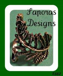Antique Leaf Design Ring Size 5