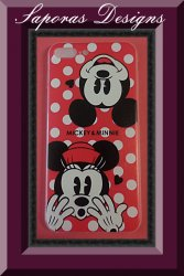 Iphone 7 Plus Silicone Case Minnie & Mickey Disney Design