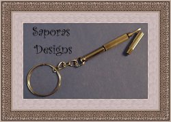 Screw Driver Design Keychain Silver Tone