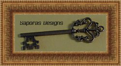 Antique Skeleton Key Design Charm