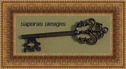 Antique Skeleton Key Design Charm