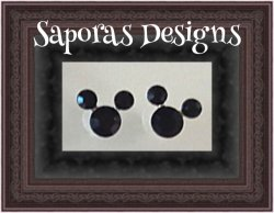 Black Crystal Stud Disney Mickey Mouse Design Earrings