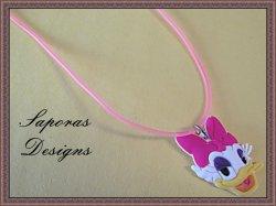Disney Daisy Duck Design Necklace