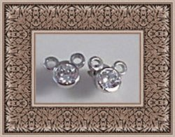 925 Sterling Silver Disney Mickey Mouse Design Stud Earrings With Clear Crystals
