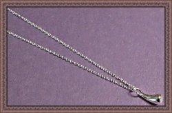 925 Sterling Silver Tear Drop Design Necklace