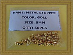 Set Of (50) Metal Backs / Stoppers For Earrings Gold Tone