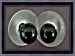 Black Bead Earrings Stud Style Biker Chic Gothic Punk Rock Designs