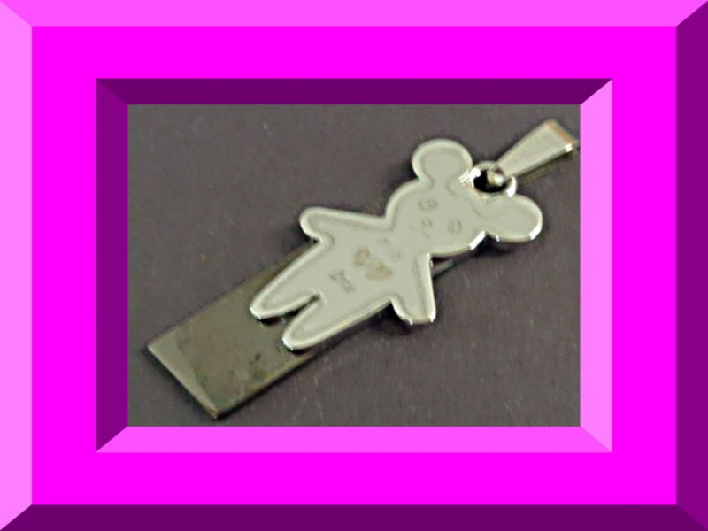 Image 0 of Stainless Steel Teddy Bear Design Charm For Necklace Or Bracelet