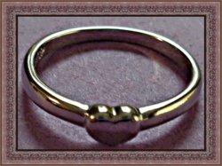18KRP Heart Design Band Ring