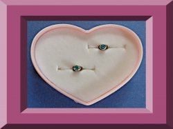 Silver Tone Stud Earrings With Turquoise Blue Crystal