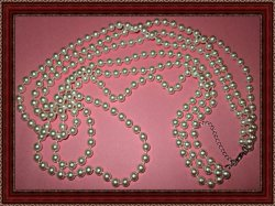 Multi-Stranded White Faux Pearl Necklace Vintage Style Classy & Elegant