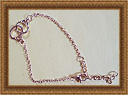Gold Tone Handcuff Design Anklet Biker Chic Punk Rock Style