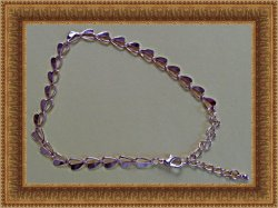 Gold Tone Heart Design Anklet Sassy Style