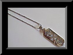 18KRP Dior Necklace With Hearts & Flower Design