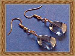 Blue Stone Wisdom Earrings Dangle With Gold Tone Finish