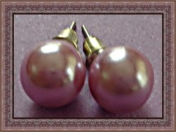 Light Purple Faux Pearl Stud Earrings