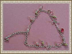 Handmade Beaded Anklet With Silver Tone Finish