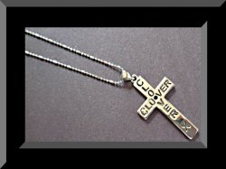 18KRP Clover X Cross Design Necklace Unisex