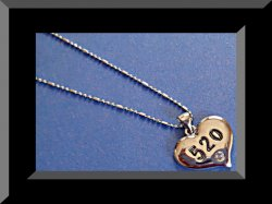 18KRP 520 Heart Design Necklace With Clear Crystal