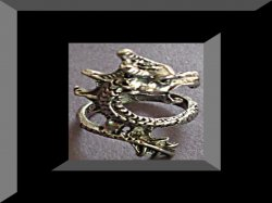 Tibetan Silver Dragon Design Ring Size 5
