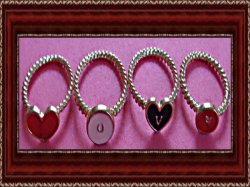 Heart Shaped Love Rings Size 5 6 & 7.5