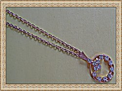 Gold Tone Necklace With Clear Crystals Classy Style
