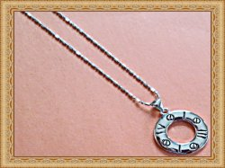 18KRP Roman Numeral Design Necklace Unisex