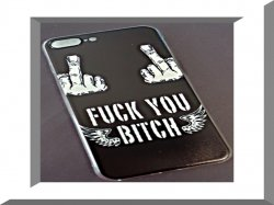 F*** Y** B**ch Middle Finger With Angel Wings Iphone 8 Plus Silicone Design Case