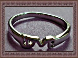 Silver Tone Love Band Design Ring Size 8.25 For Her