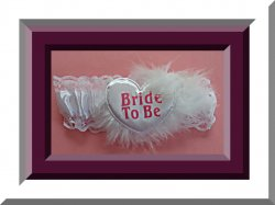 White & Pink Lace Bride To Be Garter For Wedding