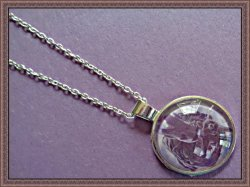 Silver Tone Guardians Of The Galaxy Groot / Rocket Design Necklace