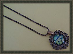 Antique Design Cat / Kitten Design Necklace