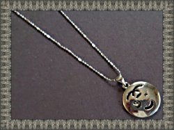 18KRP Baby Face Necklace Unisex