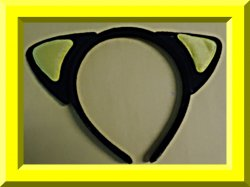 Black & Yellow Cat Ears Hair Band