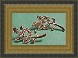 Gold Tone Leaf Design Stud Earrings